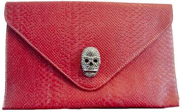 red skull clutch