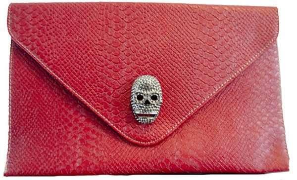 red skull clutch