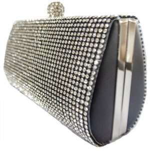 black diamonte clutch