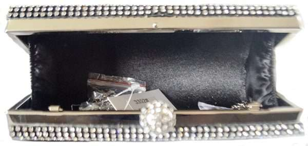 black diamonte clutch